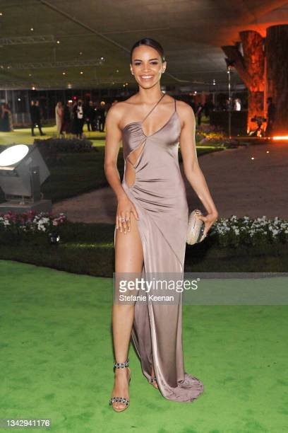 Leslie Grace attends the Academy Museum of Motion Pictures: Opening Gala honoring Haile Gerima and Sophia Loren, and Museum Campaign Leadership Bob...