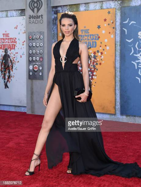 """Leslie Grace attends Warner Bros. Premiere of """"The Suicide Squad"""" at The Landmark Westwood on August 02, 2021 in Los Angeles, California."""