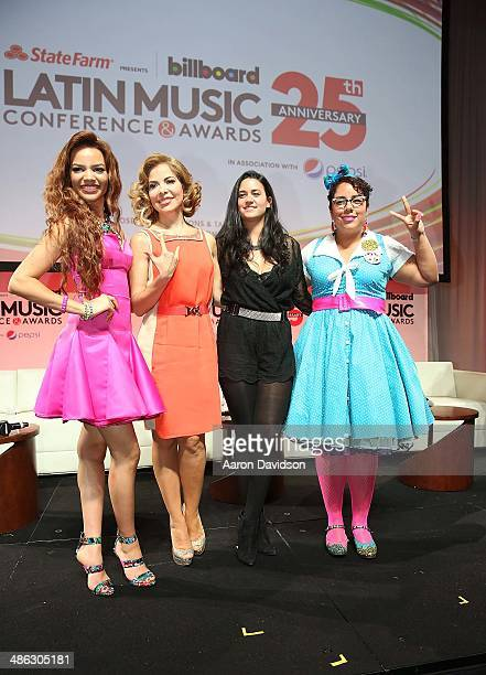 Leslie Grace Gloria Trevi Kat Dahlia and La Marisoul participates in 25th Annual Billboard Latin Music Conference QA With David Bisbal Lusi Fonsi at...