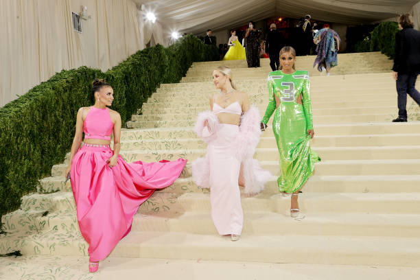 NY: The 2021 Met Gala Celebrating In America: A Lexicon Of Fashion - Departures