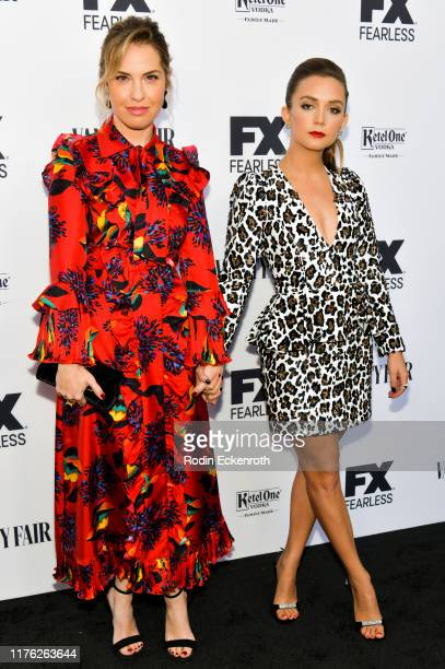 Leslie Grossman and Billie Lourd attend Vanity Fair and FX's Annual Primetime Emmy Nominations Party on September 21, 2019 in Century City,...