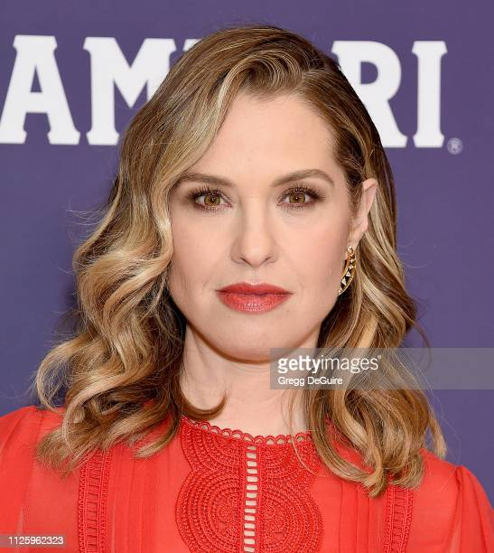 Leslie Grossman arrives at the 21st CDGA at The Beverly Hilton Hotel on February 19 2019 in Beverly Hills California