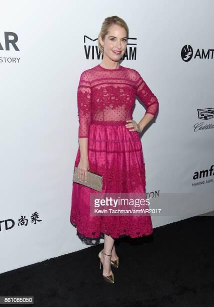 Leslie Grossman at amfAR Los Angeles 2017 at Ron Burkle's Green Acres Estate on October 13 2017 in Beverly Hills Californi
