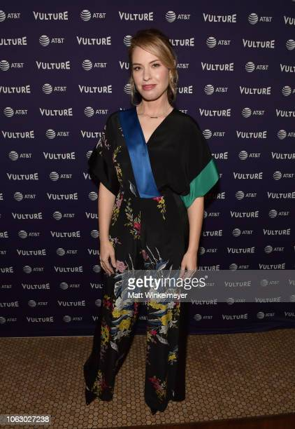 Leslie Grossman attends 'Bitch Sesh Live' during Vulture Festival presented by ATT at Hollywood Roosevelt Hotel on November 17 2018 in Hollywood...