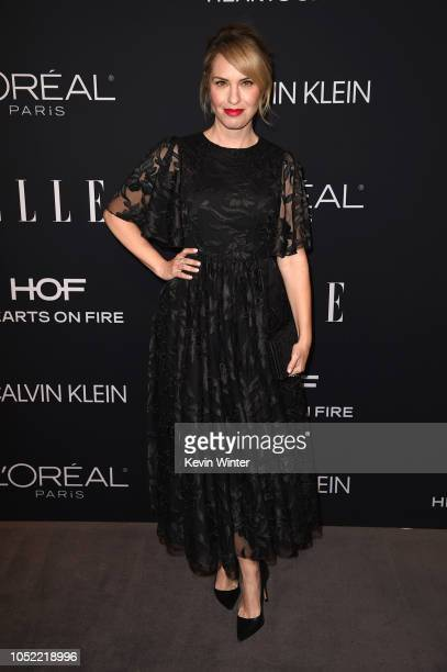Leslie Grossman attends the 25th Annual ELLE Women in Hollywood Celebration at Four Seasons Hotel Los Angeles at Beverly Hills on October 15 2018 in...