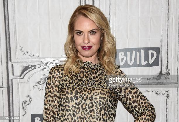 Leslie Grossman attends the Build Series to discuss the FX show 'American Horror Story Cult' at Build Studio on November 13 2017 in New York City