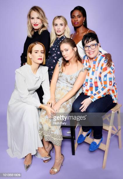 Leslie Grossman Emma Roberts and Adina Porter Sarah Paulson Billie Lourd and Kathy Bates of FX's 'American Horror Story Apocalypse' pose for a...