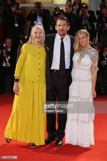 Leslie Hawke Ethan Hawke and Ryan Hawke attend 'Good Kill' Premiere during the 71st Venice Film Festival on September 5 2014 in Venice Italy