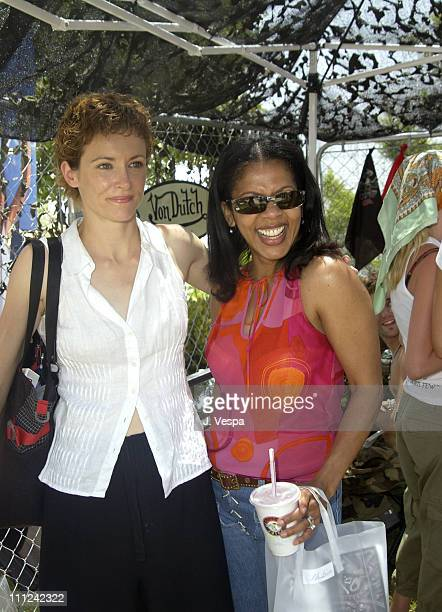 Leslie Hope and Penny Johnson Jerald during Cabana Pre-MTV Movie Awards Beauty Buffet - Day One at Private Residence in Hollywood, California, United...