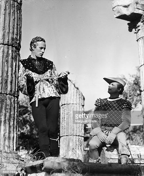 Leslie Howard as Romeo and Reginald Denny in a scene from an MGM production of 'Romeo and Juliet' directed by George Cukor