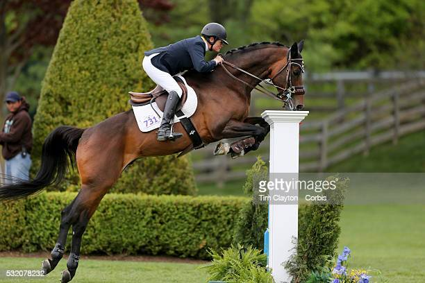 Leslie Howard USA riding Quadam in action during The $50000 Old Salem Farm Grand Prix presented by The Kincade Group at the Old Salem Farm Spring...