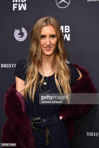 Leslie Huhn attends the Riani show during the MBFW Berlin January 2018 at ewerk on January 16 2018 in Berlin Germany