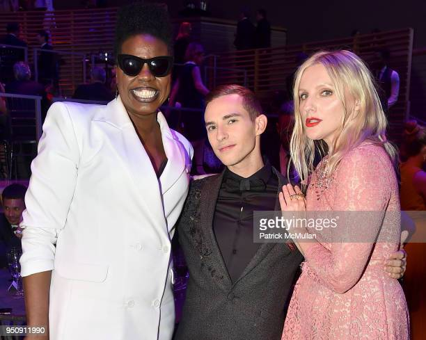 Leslie Jones Adam Rippon and Laura Brown attend the 2018 TIME 100 Gala at Jazz at Lincoln Center on April 24 2018 in New York City