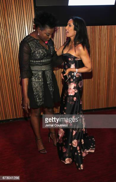 Leslie Jones and Padma Lakshmi attend the 2017 Time 100 Gala at Jazz at Lincoln Center on April 25 2017 in New York City