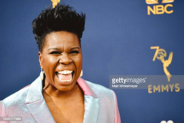 Leslie Jones arrives at the 70th Emmy Awards on September 17, 2018 in Los Angeles, California.