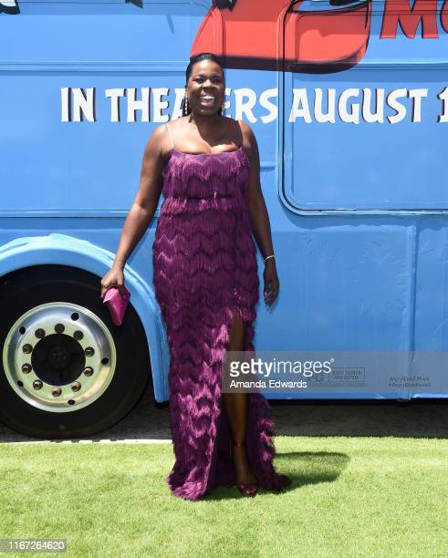 """Leslie Jones arrives at the premiere of Sony's """"The Angry Birds Movie 2"""" on August 10, 2019 in Los Angeles, California."""
