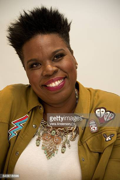 "Leslie Jones at the ""Ghostbusters"" Press Conference at the Four Seasons Hotel on July 8, 2016 in Beverly Hills, California."