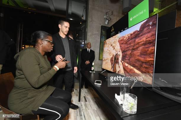 Leslie Jones attends as Liam Payne Chloe Grace Moretz Brooklyn Beckham and Caleb McLaughlin Host Xbox One x VIP Event Xbox Live Session on November 6...