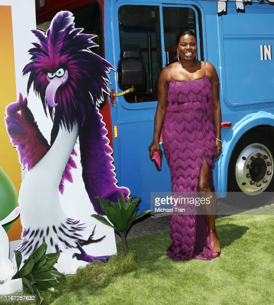 """Leslie Jones attends the Los Angeles Premiere Of Sony's """"The Angry Birds Movie 2"""" held at Westwood Regency Theater on August 10, 2019 in Los Angeles,..."""