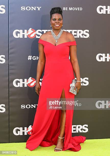 Leslie Jones attends the premiere of Sony Pictures' 'Ghostbusters' on July 9, 2016 in Hollywood, California.