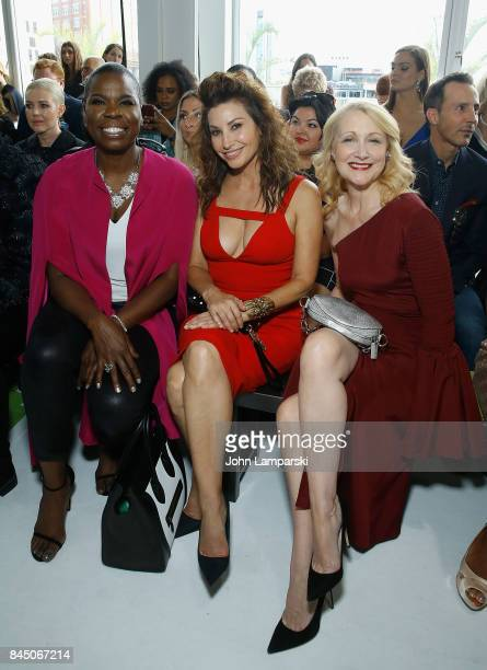 Leslie Jones Gina Gershon and Patricia Clarckson attend the Christian Siriano collection during the September 2017 New York Fashion Week The Shows at...