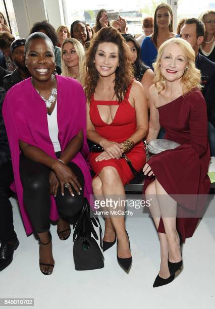Leslie Jones Gina Gershon and Patricia Clarkson attend the Christian Siriano fashion show during New York Fashion Week The Shows at Pier 59 on...