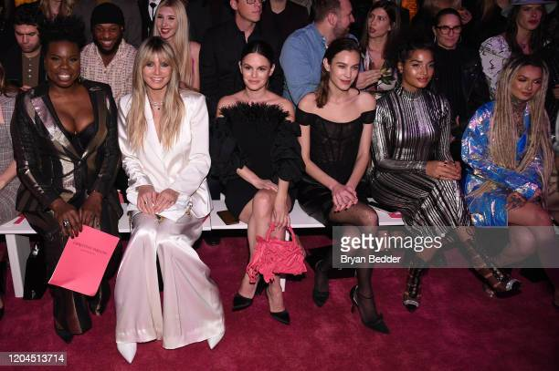Leslie Jones Heidi Klum Rachel Bilson Alexa Chung Indya Moore and Zhavia Ward sit front row at the Christian Siriano Fall Winter 2020 show during New...