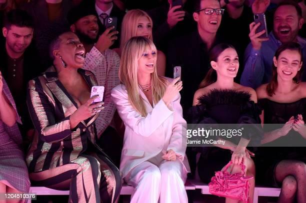 Leslie Jones Heidi Klum Rachel Bilson and Alexa Chung sit front row at the Christian Siriano Fall Winter 2020 NYFW at Spring Studios on February 06...