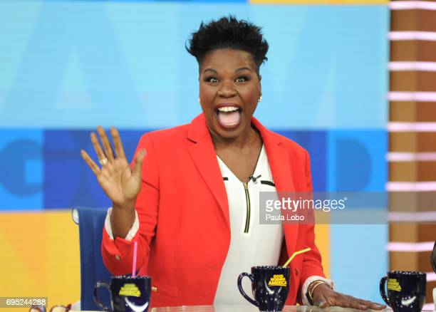 AMERICA Leslie Jones is a guest on Good Morning America Monday June 12 airing on the Walt Disney Television via Getty Images Television Network LESLIE