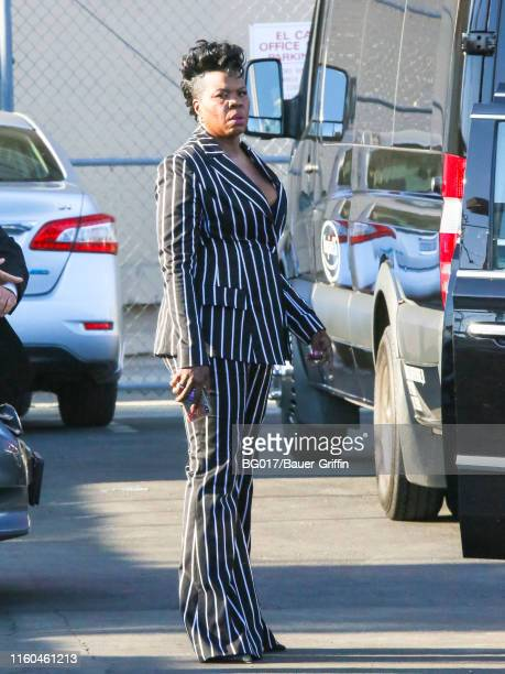 Leslie Jones is seen arriving at 'Jimmy Kimmel Live' on August 08, 2019 in Los Angeles, California.