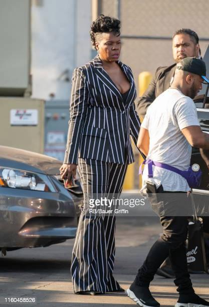 Leslie Jones is seen at 'Jimmy Kimmel Live' on August 08, 2019 in Los Angeles, California.