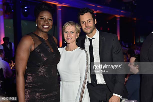 Leslie Jones, Kristen Wiig, and Avi Rothman attend the American Museum of Natural History's 2016 Museum Gala at American Museum of Natural History on...