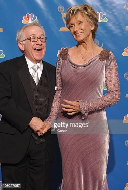 Leslie Jordan and Cloris Leachman presenters during 58th Annual Primetime Emmy Awards Press Room at Shrine Auditorium in Los Angeles California...