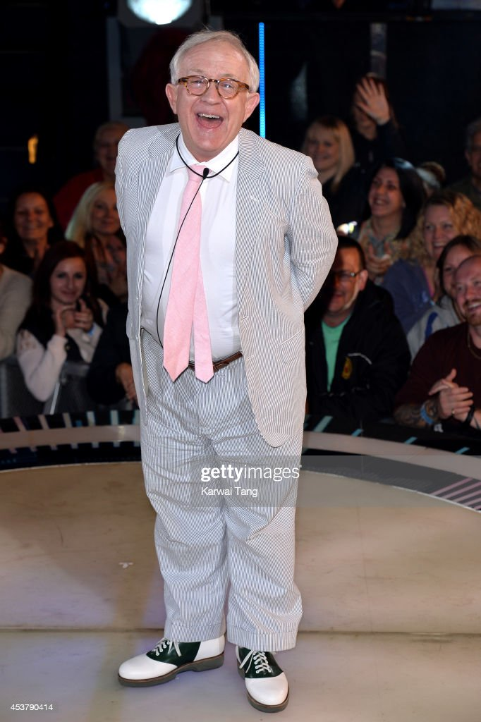 Leslie Jordan enters the Celebrity Big Brother house at Elstree Studios on August 18, 2014 in Borehamwood, England.