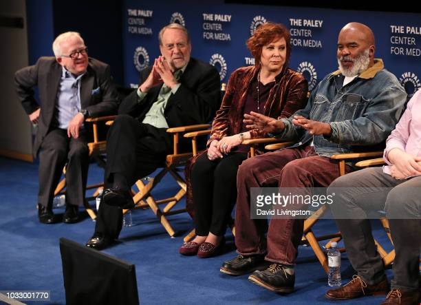 Leslie Jordan Martin Mull Vicki Lawrence and David Alan Grier from 'The Cool Kids' appear on stage at The Paley Center for Media's 2018 PaleyFest...