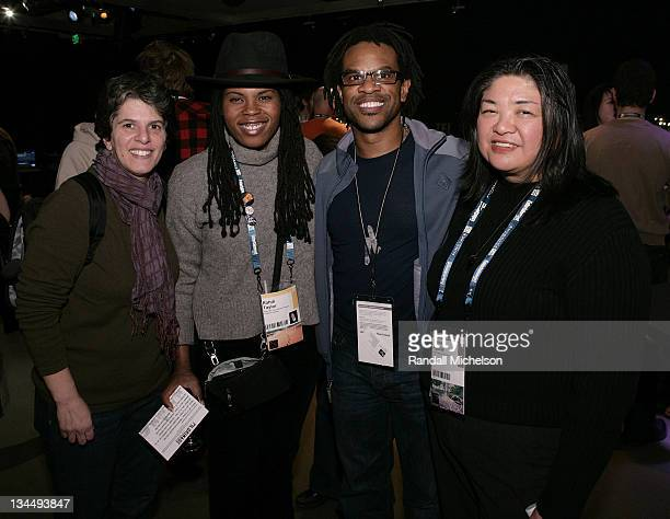 Leslie Klainberg, Rahdi Taylor, Thomas Allen Harris and Claire Aguilar attend the PBS Reception at the Sundance House during the 2008 Sundance Film...