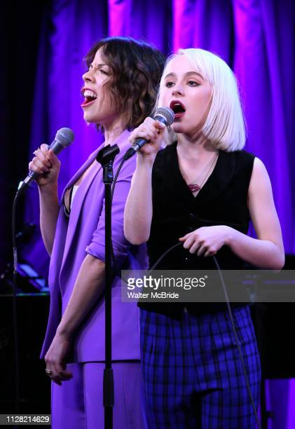 Leslie Kritzer and Sophia Anne Caruso during Broadway's 'Beetlejuice' First Look Presentation at Subculture on February 28 2019 in New York City