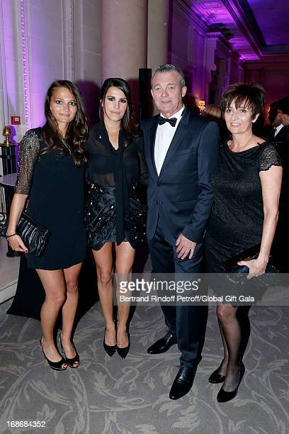 Leslie Lemarchal Karine Ferri Pierre Lemarchal and his wife Laurence Lemarchal attend 'Global Gift Gala' at Hotel George V on May 13 2013 in Paris...