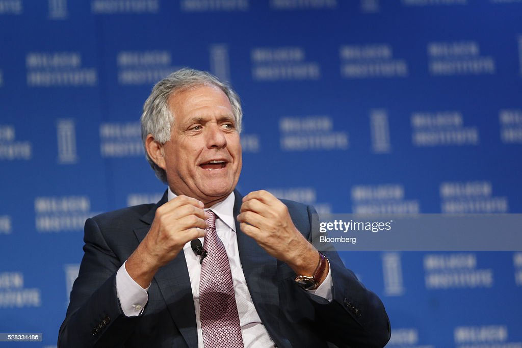 Leslie 'Les' Moonves, president and chief executive officer of CBS Corp., speaks during the annual Milken Institute Global Conference in Beverly Hills , California, U.S., on Wednesday, May 4, 2016. The conference gathers attendees to explore solutions to today's most pressing challenges in financial markets, industry sectors, health, government and education. Photographer: Patrick T. Fallon/Bloomberg via Getty Images