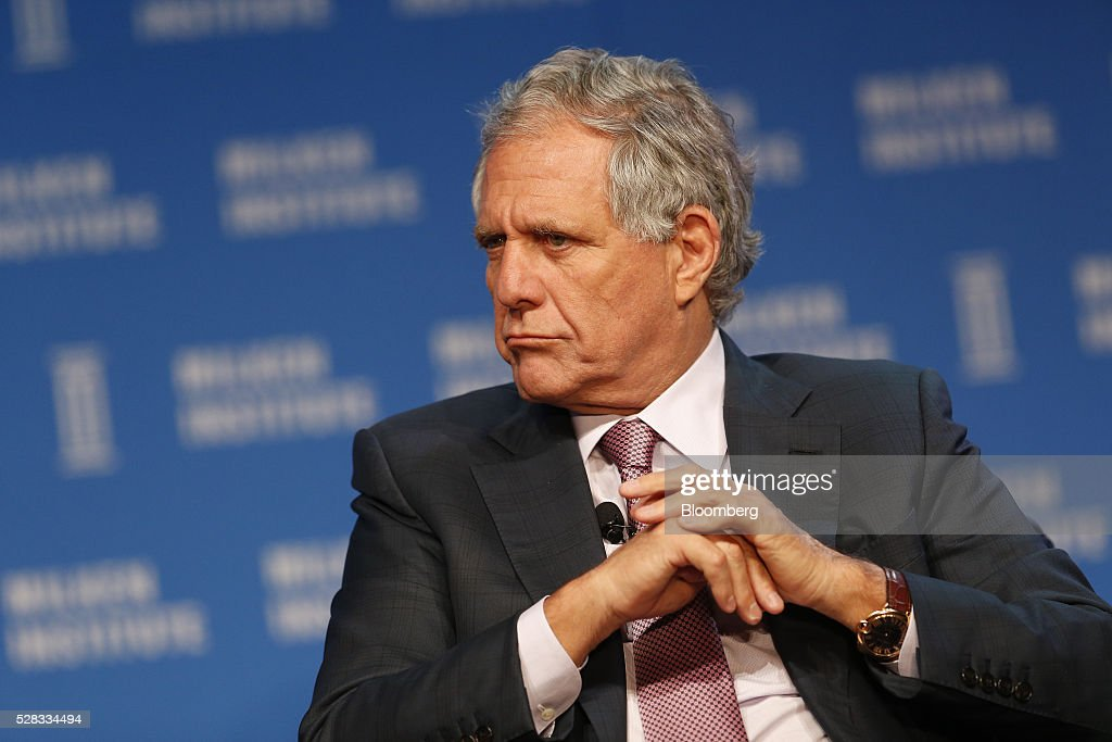 Leslie 'Les' Moonves, president and chief executive officer of CBS Corp., listens during the annual Milken Institute Global Conference in Beverly Hills , California, U.S., on Wednesday, May 4, 2016. The conference gathers attendees to explore solutions to today's most pressing challenges in financial markets, industry sectors, health, government and education. Photographer: Patrick T. Fallon/Bloomberg via Getty Images