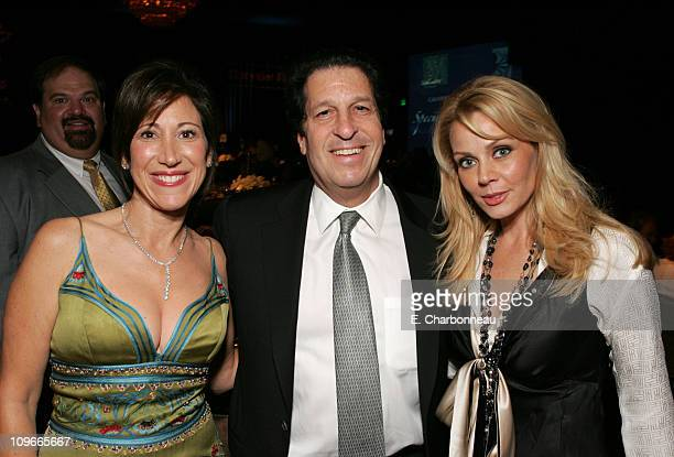 Leslie LittResnick Peter Roth and Gail O'Grady during 8th Annual Lili Claire Foundation Benefit Cocktail Area at The Beverly Hilton in Beverly Hills...