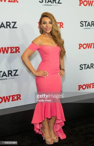 Leslie Lopez attends STARZ Power Season 6 premiere at Madison Square Garden.