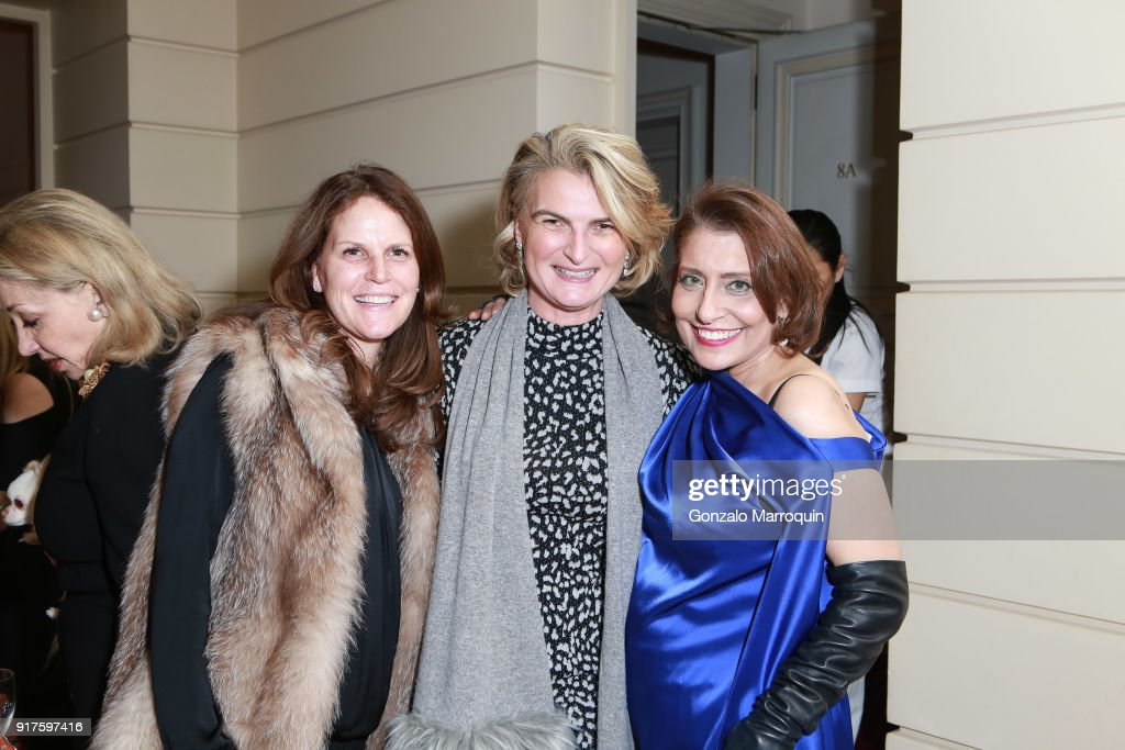 Leslie Luther, Olivia Flatto and Muna Rihani Al-Nasser during the Susan Gutfreund Hosts UN Women For Peace Association Reception on February 12, 2018 in New York City.