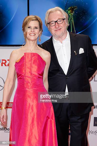 Leslie Malton and Felix von Manteuffel attend the Goldene Kamera 2015 on February 27 2015 in Hamburg Germany