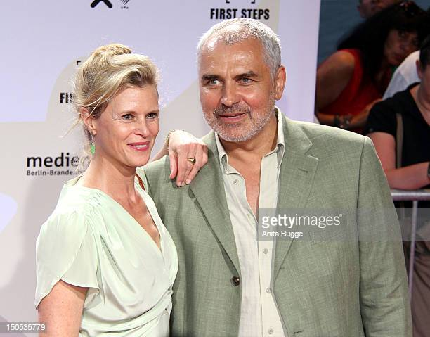 Leslie Malton and Hansa Czypionka attend the 'First Step Awards 2012' in the Stage Theater Potsdamer Platz on August 20 2012 in Berlin Germany