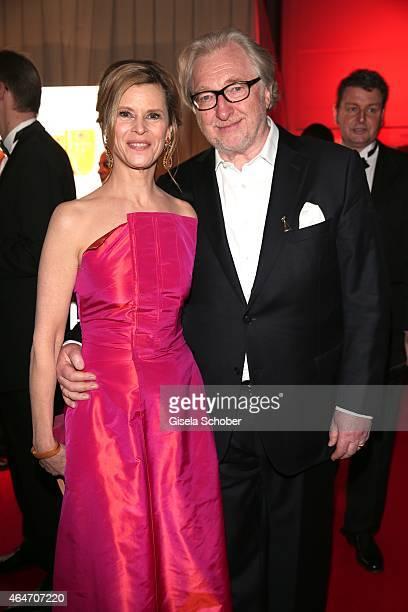 Leslie Malton and her husband Felix von Manteuffel during the Goldene Kamera 2015 reception on February 27, 2015 in Hamburg, Germany.