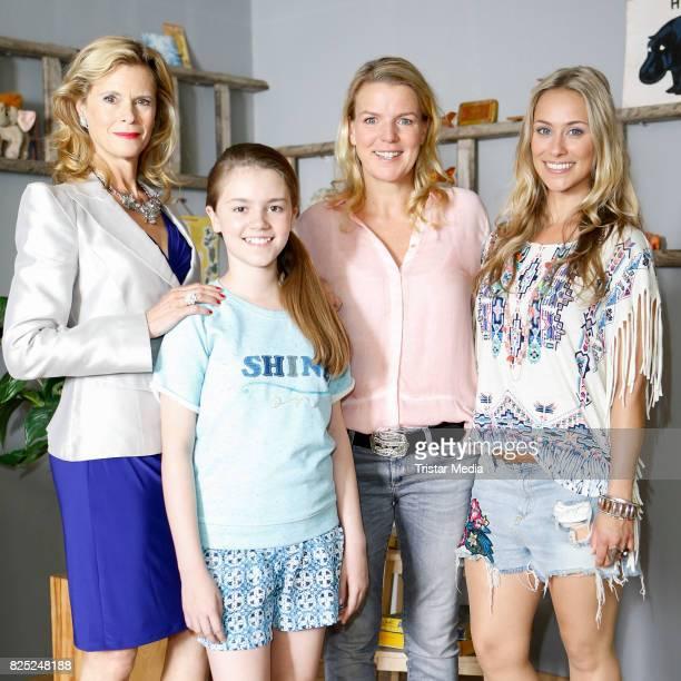 Leslie Malton Laurena Marisol Lehrich Mirja Boes and Sina Tkotsch during the set visit of the new RTL series 'Beste Schwestern' on August 1 2017 in...