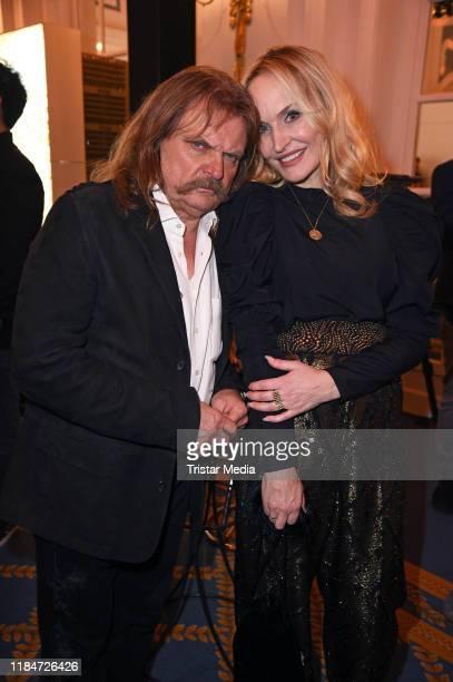 "Leslie Mandoki and Anne Meyer-Minnemann attend ""20 Golden Years Of Movie Meets Media"" at Hotel Atlantic Kempinski on November 25, 2019 in Hamburg,..."