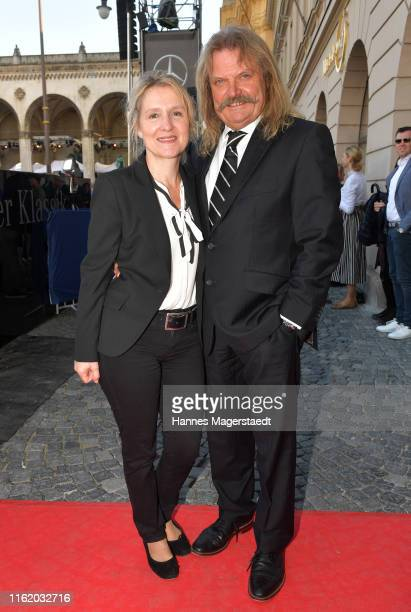 Leslie Mandoki and Eva Mandoki during the MercedesBenz reception at Klassik am Odeonsplatz on July 14 2019 in Munich Germany
