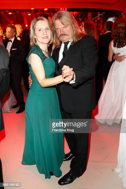 Leslie Mandoki and Eva Mandoki during the Rosenball charity event at Hotel Intercontinental on May 5 2018 in Berlin Germany